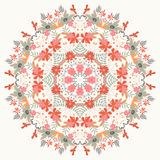 装饰圆的花卉样式 库存图片