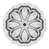 装饰圆的鞋带样式是象mandala_1 免版税库存图片