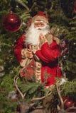 装饰圣诞老人圣诞树 免版税库存照片