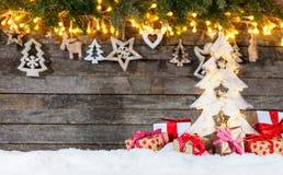 装饰圣诞节土气背景 库存图片