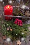 装饰圣诞节构成- 图库摄影