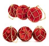 装饰圣诞节球构成 免版税库存照片