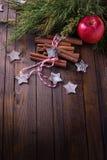 装饰圣诞节的构成 库存图片