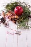 装饰圣诞节的构成 图库摄影