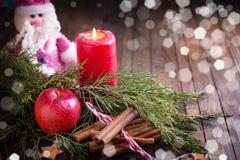 装饰圣诞节的构成 库存照片