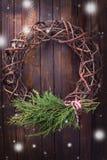 装饰圣诞节的构成 免版税库存照片