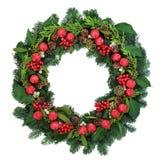 装饰圣诞节花圈 免版税库存照片
