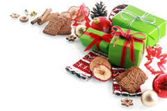 装饰圣诞节角落装饰 免版税库存照片