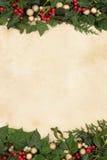装饰圣诞节边界 库存照片