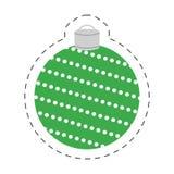 装饰圣诞节绿色的球 库存照片