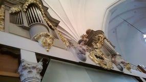 装饰在大教堂里 免版税图库摄影