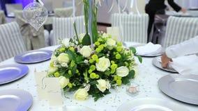 装饰在婚礼之日 股票录像