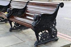 装饰在维多利亚堤防,伦敦换下场 库存照片