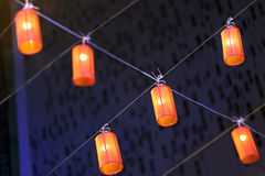 装饰垂悬的灯泰国泰国 免版税库存照片