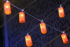 装饰垂悬的灯 库存图片