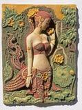 装饰墙壁的浅浮雕墙壁 免版税库存照片