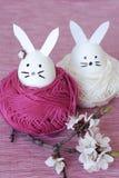 装饰复活节兔子 免版税库存照片