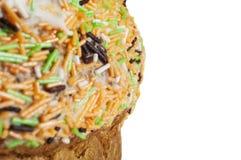 装饰复活节的蛋糕紧密  库存图片