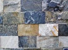 装饰多彩多姿的自然砖墙纹理和样式 免版税库存图片