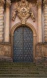装饰大教堂门 免版税库存图片