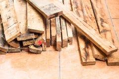 装饰工作的木头 免版税库存图片