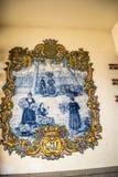 装饰市场、梅尔卡多dos Lavradores或工作者的市场的瓦片或azulejos 库存图片