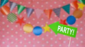 装饰庆祝的屋子 当事人 庆祝的装饰 股票视频