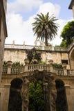 装饰庭院区域在热那亚意大利 图库摄影