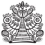 装饰开花的树 免版税库存图片