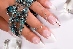 装饰性的指甲盖 免版税库存照片