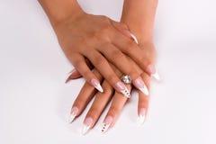装饰性的指甲盖 免版税图库摄影