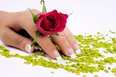 装饰性的指甲盖 图库摄影