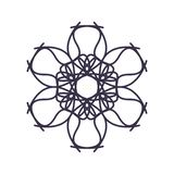装饰或纹身花刺的抽象坛场几何概述 皇族释放例证