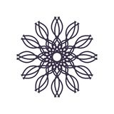 装饰或纹身花刺的抽象坛场几何概述 向量例证