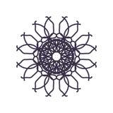 装饰或纹身花刺的抽象坛场几何概述 库存例证