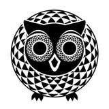 装饰抽象猫头鹰 免版税图库摄影