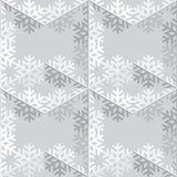 装饰抽象雪花 无缝 库存照片