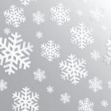装饰抽象雪花 无缝 免版税库存图片