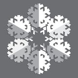 装饰抽象雪花 库存照片