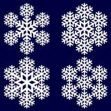 装饰抽象雪花 库存图片