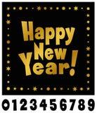装饰新年好印刷术 免版税库存图片