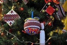 装饰新年和圣诞节tree_11 免版税图库摄影