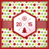 装饰新年庆祝卡片 免版税库存照片