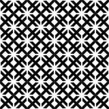装饰无缝的花卉几何黑&白色样式背景 向量例证