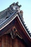装饰日本山墙饰细节 库存图片