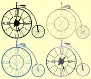装饰时钟便士极少量自行车传染媒介 皇族释放例证