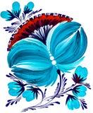 装饰明亮的被绘的花 库存照片