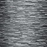 装饰板岩石墙表面的样式 免版税库存照片