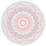 装饰桃红色和蓝色圆的样式框架 免版税图库摄影