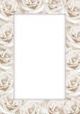 装饰框架纸张玫瑰 图库摄影